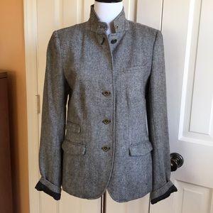 GAP Brown Herringbone Wool Blazer. Size 6